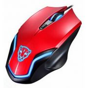 Mouse Laser Gamer Usb RGB Ergonômico 6D F61 Red Oletech