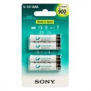 Pilha Sony Recarregável NHAAAB4GN AAA 900mA (4 unds)