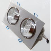 Spot Alumínio Retangular (Duplo 9W) 18W Led Branco Puro
