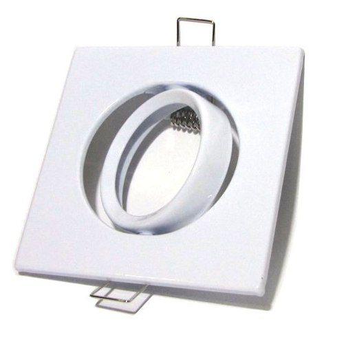 Kit Spot Quadrado Branco + Lâmpada 5w 12v Branco Puro