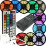 Fita de Led 5m 300 Leds RGB 5050 Prova D´Água + Controle Remoto + Fonte 2A - VIRTUAL3000 INFORMÁTICA