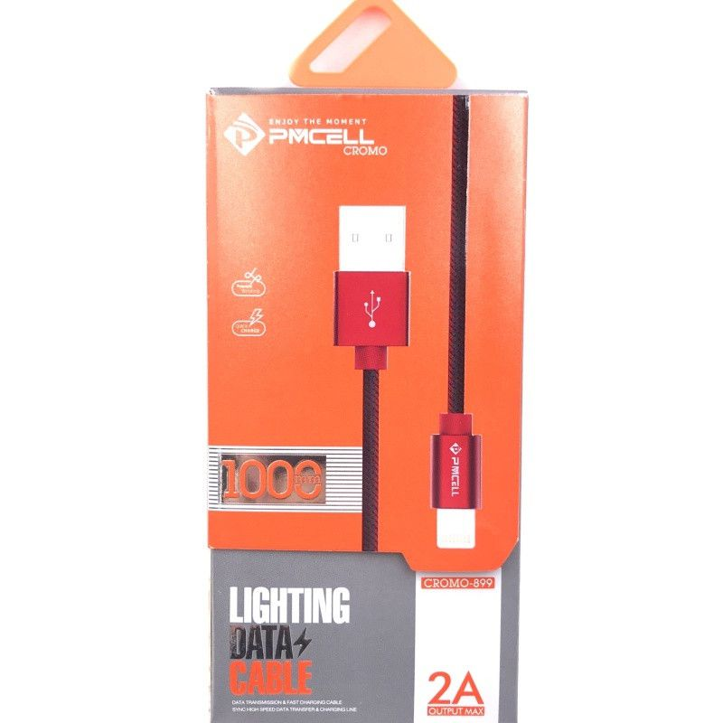 CABO USB IPHONE LIGHTNING 1M - PMCELL CROMO899 CB-21-1M