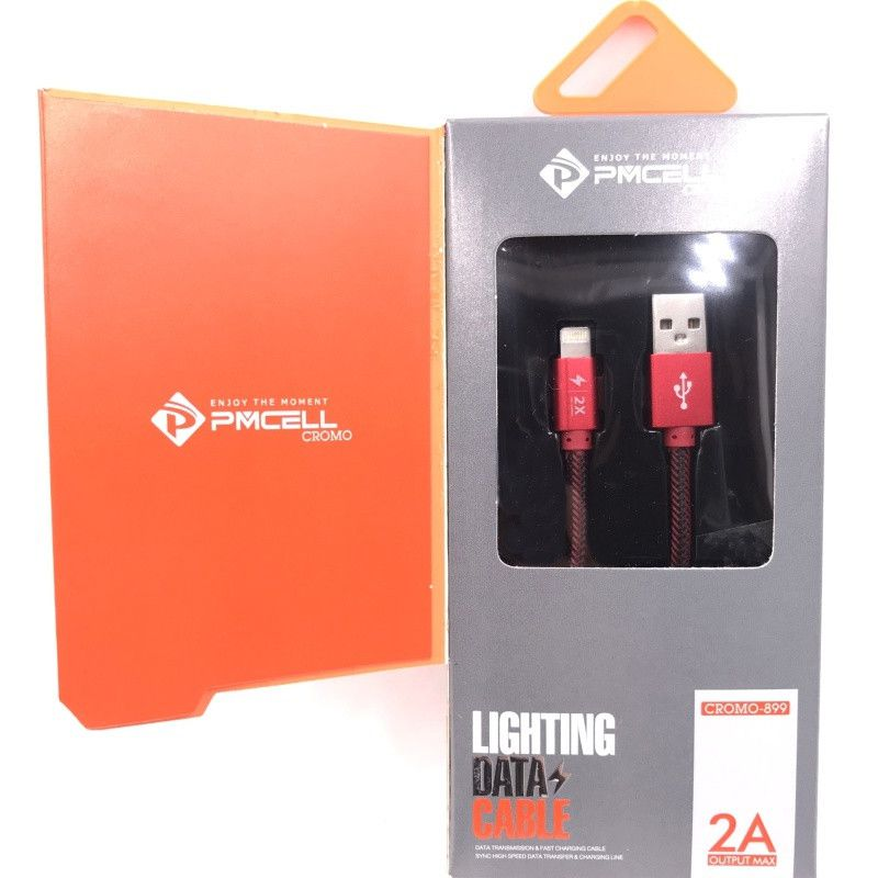 CABO USB IPHONE LIGHTNING 2M - PMCELL CROMO899 CB-21-2M