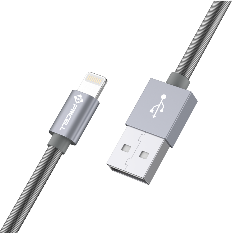 CABO USB IPHONE LIGHTNING MOLA 1M - PMCELL CROMO897 CB-22