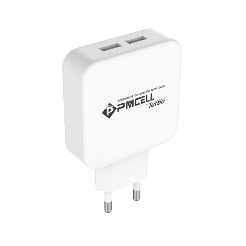 CARREGADOR TOMADA CELULAR 2x USB 2.4A - PMCELL POWER799 HC-21