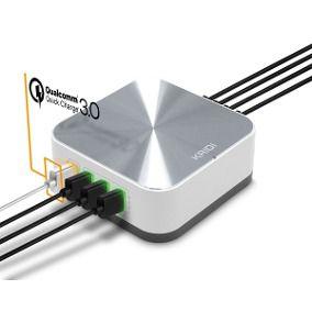 CARREGADOR TOMADA QUALCOMM 8x USB 10A TURBO PMCELL MAXX HC-43