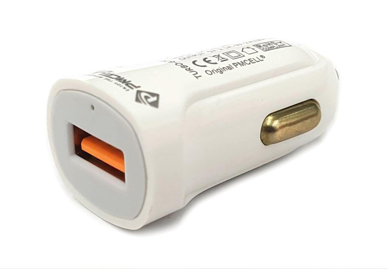 CARREGADOR VEICULAR USB PMCELL TURBO676 CV-34