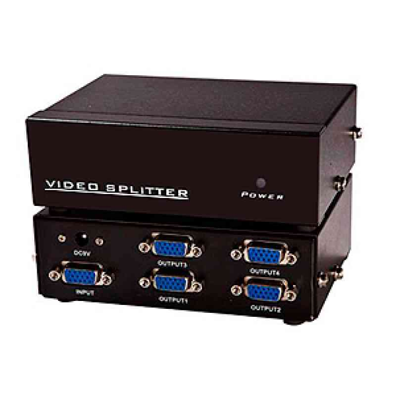 Distribuidor de Video 4 portas (VGA Splitter) Bivolt