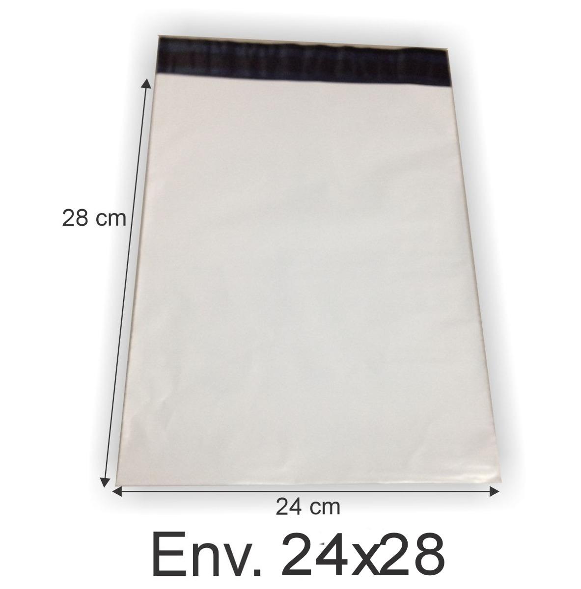 Envelope Plástico Segurança Lacre Tipo Sedex 24x28 (100pcs)