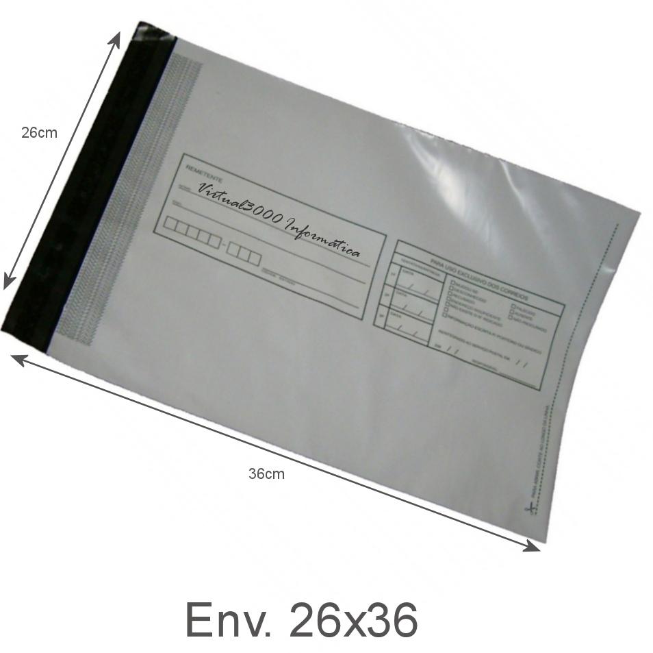 Envelope Pl 225 Stico Seguran 231 A Lacre Tipo Sedex Impresso