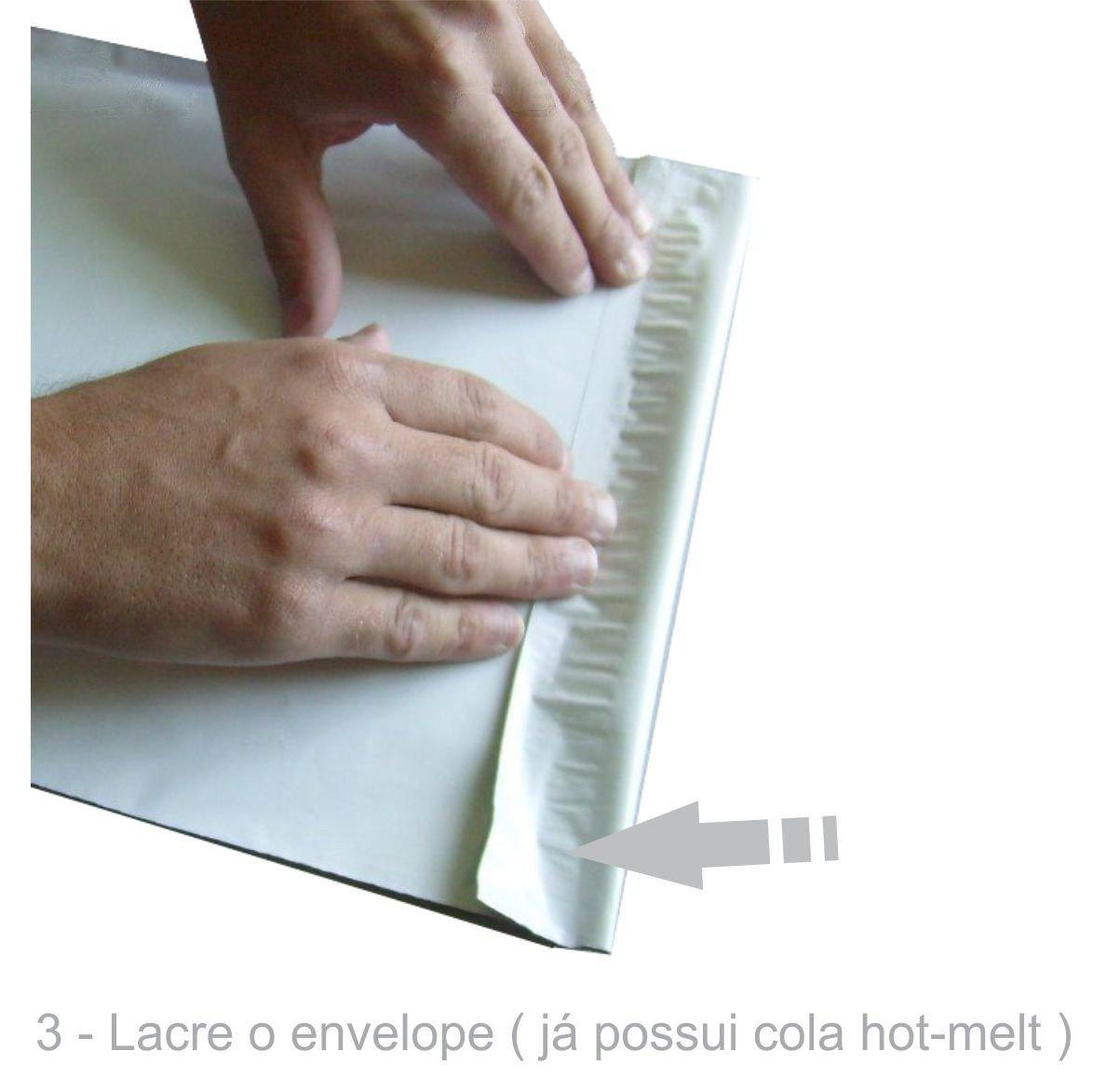 Envelope Plástico Segurança Lacre Tipo Sedex Impresso 32x40 (100pcs)