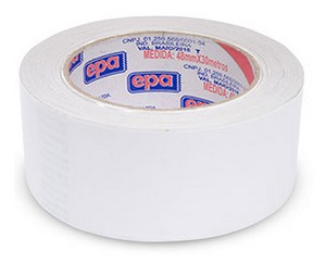 FITA ADESIVA DUPLA FACE PAPEL 48mm x 30mts (05 rolos)