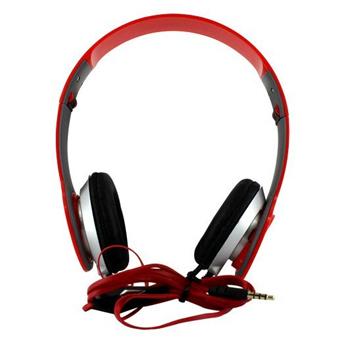 Fone Ouvido Stéreo Headphone Dobrável A13 Vermelho