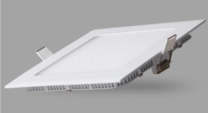 Plafon Painel Quadrado Led Slim 3W Branco Puro