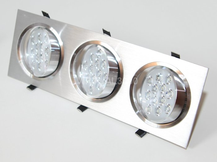 Spot Alumínio Retangular (Triplo 12W) 36W Led Branco Puro