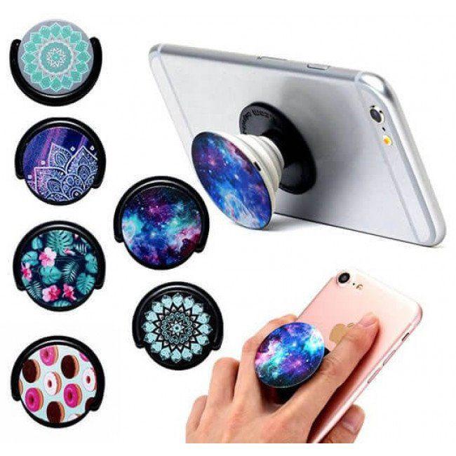 Suporte PopSocket Celular Fashion Phone - Cores e estampas Sortidas