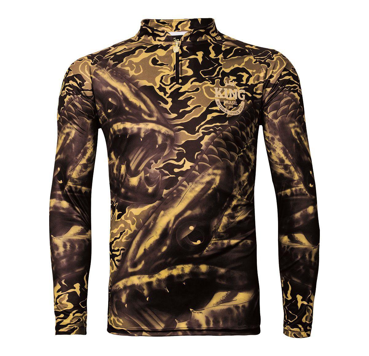 73001d0c8f Camiseta De Pesca King Proteção Solar Uv Viking 04 - Trairão - LIFE PESCA -  Sua Loja de Pesca