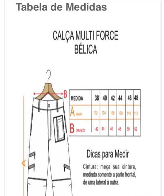 CALÇA MASCULINA MULTIFORCE BÉLICA