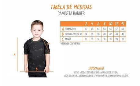 CAMISETA T SHIRT RANGER CAMUFLADA INFANTIL BÉLICA