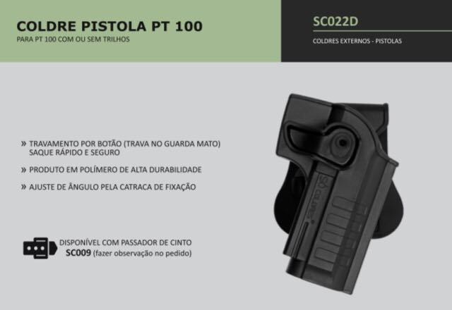 COLDRE PISTOLA PT100