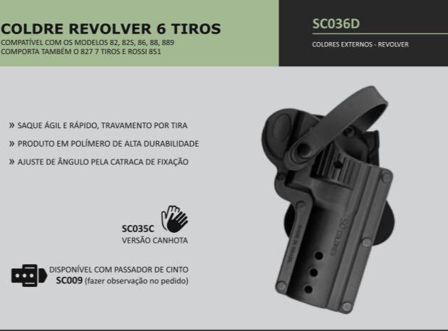 COLDRE REVOLVER 6 TIROS TAURUS