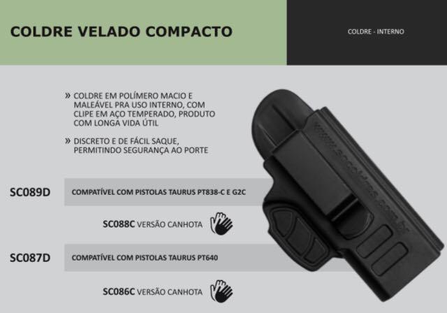 COLDRE VELADO COMPACTO TAURUS PT838-C E G2c