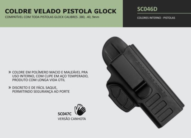 COLDRE VELADO PISTOLA GLOCK TAURUS