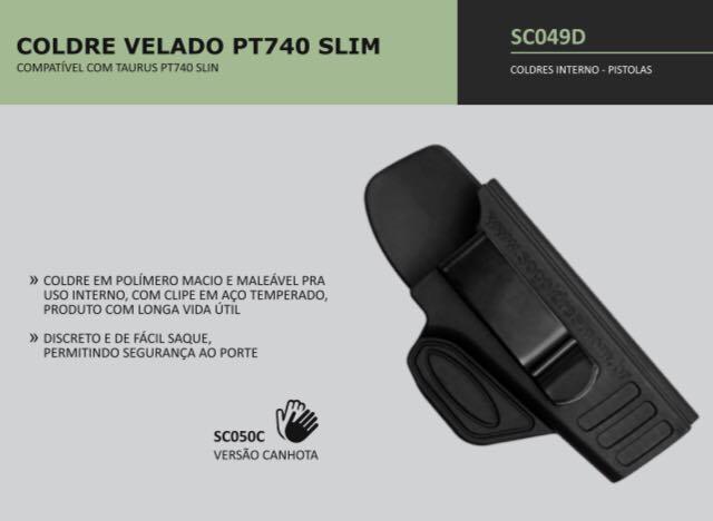 COLDRE VELADO PT740 SLIM