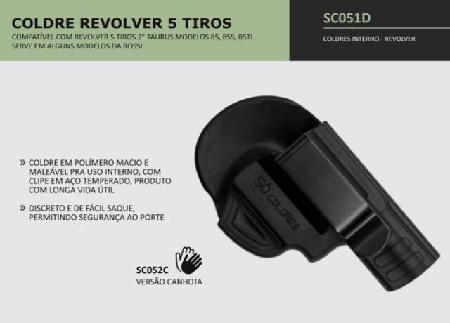 COLDRE VELADO REVÓLVERES CALIBRE .38 CINTO TIROS