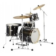 Bateria Pearl Midtown Series Black Gold Sparkle com Bumbo 16, 1 Tom, Surdo e Caixa (Shell Pack)