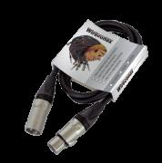 Cabo pro emborrachado balanceado para microfone - 3 Metros - XLR X XLR