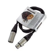 Cabo pro emborrachado balanceado para microfone - 5 Metros - XLR X XLR