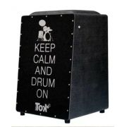 Cajon Elétrico Nobre Tok Com Bongô Keep Calm And Drum On