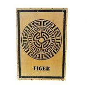 Cajon Tiger Percussion Acústico Tribal