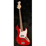 Contrabaixo Affinity Jazz Bass Squier By Fender Crimson Red Metalic