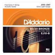 D'Addario Encordoamento Para Violão Aço Ej10-B 80/20