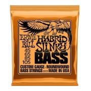 Encordoamento Baixo Ernie Ball 4 Cordas Hybrid Slinky 45/105 - P02833