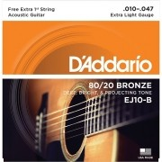 Encordoamento Daddario Acoustic Guitar 010