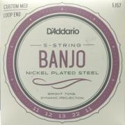 Encordoamento D'Addario Banjo 5 Cordas Nickel Plated Steel EJ57