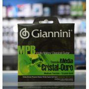 Encordoamento Giannini Cristal Outo Nylon Tensão Media
