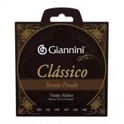 Encordoamento Giannini Nylon Clássico Tensão Pesada
