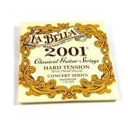 Encordoamento La Bella 2001 Classical Guitar Strings Tensão Medium Hard