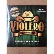 Encordoamento Para Cavaco Max Music Violero Vc10 Tensão Leve