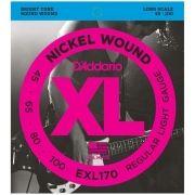 Encordoamento para Contrabaixo Daddario EXL170 4 Cordas 0.45