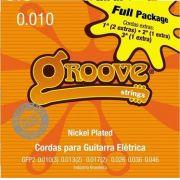 ENCORDOAMENTO PARA GUITARRA GROOVE 0.10