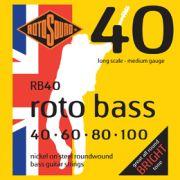 ENCORDOAMENTO ROTOSOUND PARA BAIXO ROTOBASS 40 4 CORDAS