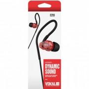 Fone de Ouvido Vokal E20 In Ear Dynamic Sound Vermelho