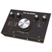 Interface M-Audio M-Track 2×2 Para Gravação USB