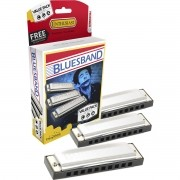 Kit com 3 Harmonicas Blues Band 559/20 (A, C, G) - Hohner