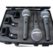 Kit com 3 Microfones - Lm-1800